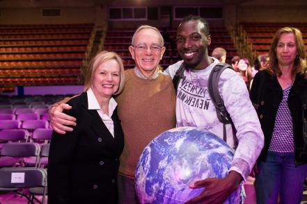 President and Mrs. Reif celebrate the MIT community at OneWorld @ MIT