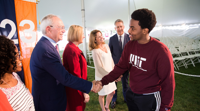 President Reif welcomes the Class of 2023